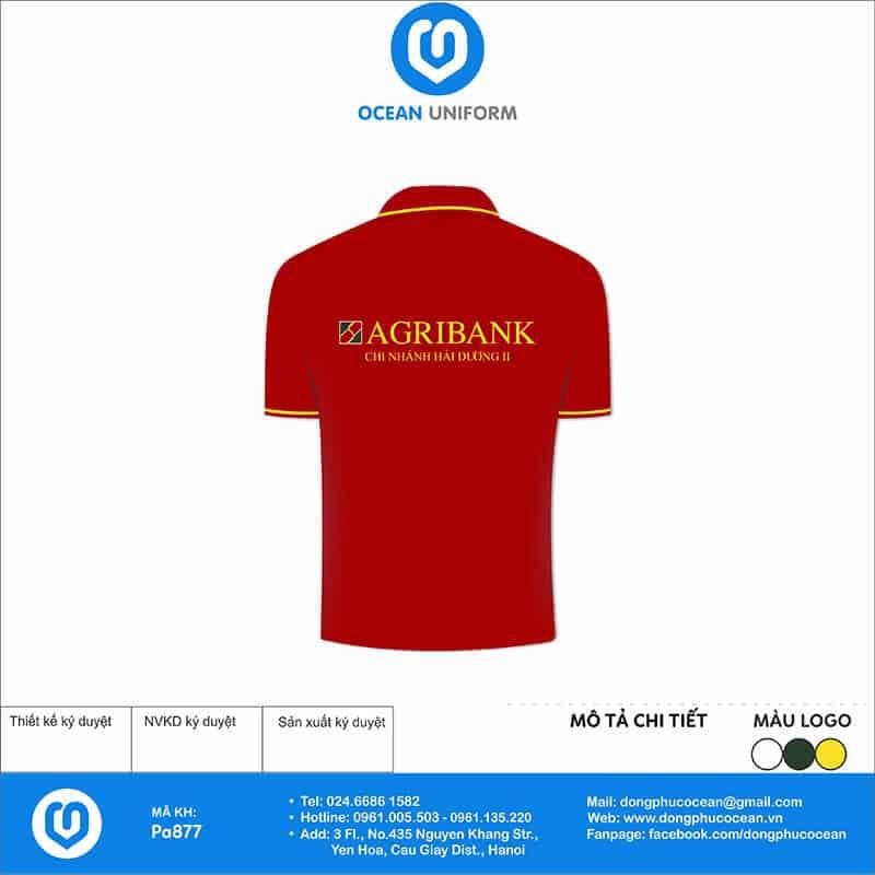 Áo thun đồng phục ngân hàng Agribank mặt sau