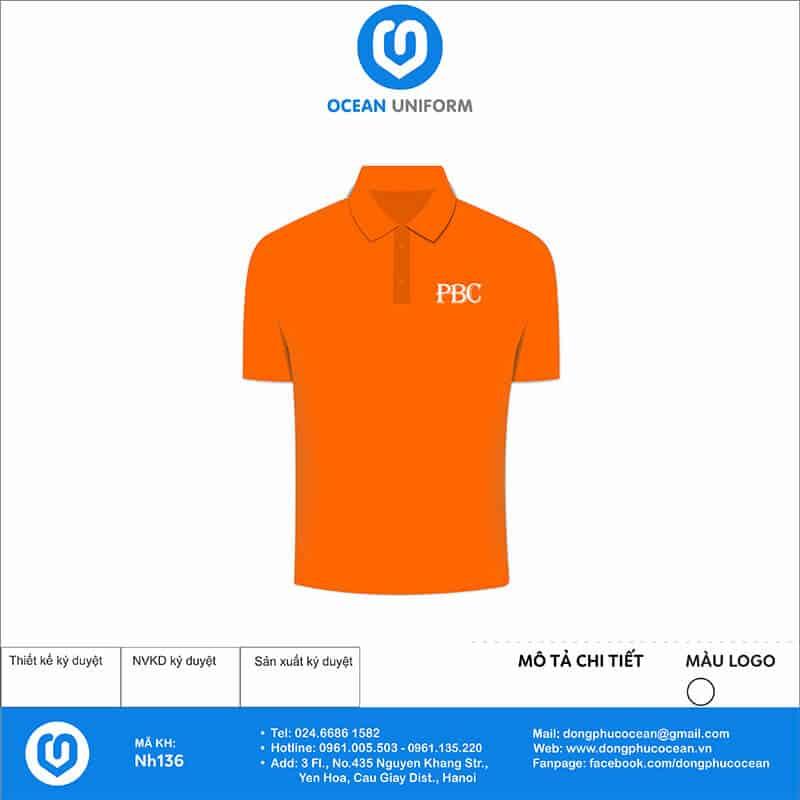Áo đồng phục Công ty PBC mặt trước