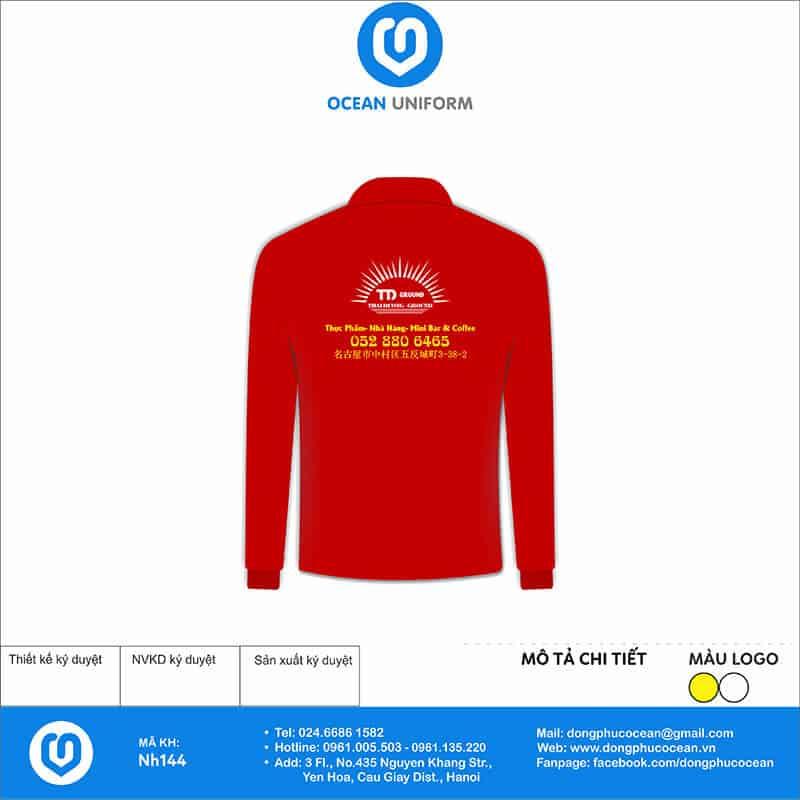 Áo đồng phục công ty - Nhà hàng Sen Việt mặt sau