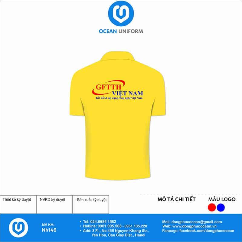 Áo đồng phục công ty GFTTH Việt Nam mặt sau