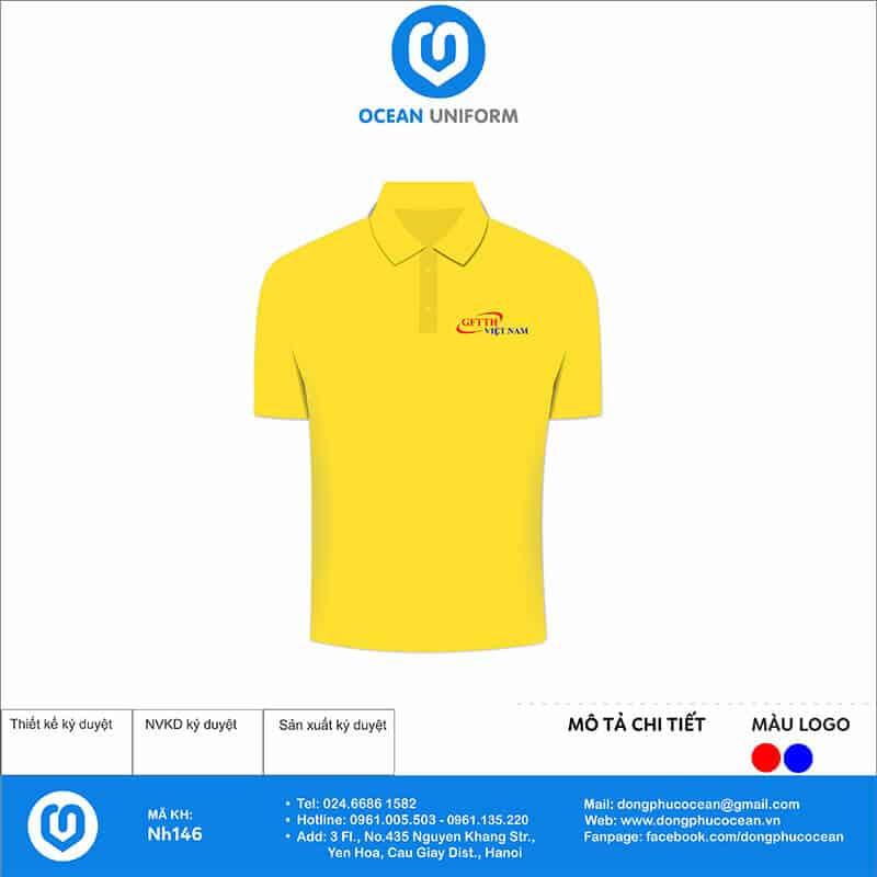 Áo đồng phục công ty GFTTH Việt Nam mặt trước