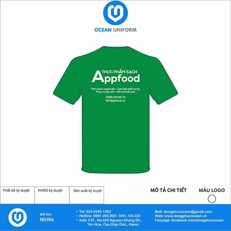 Áo đồng phục công ty Appfood mặt sau