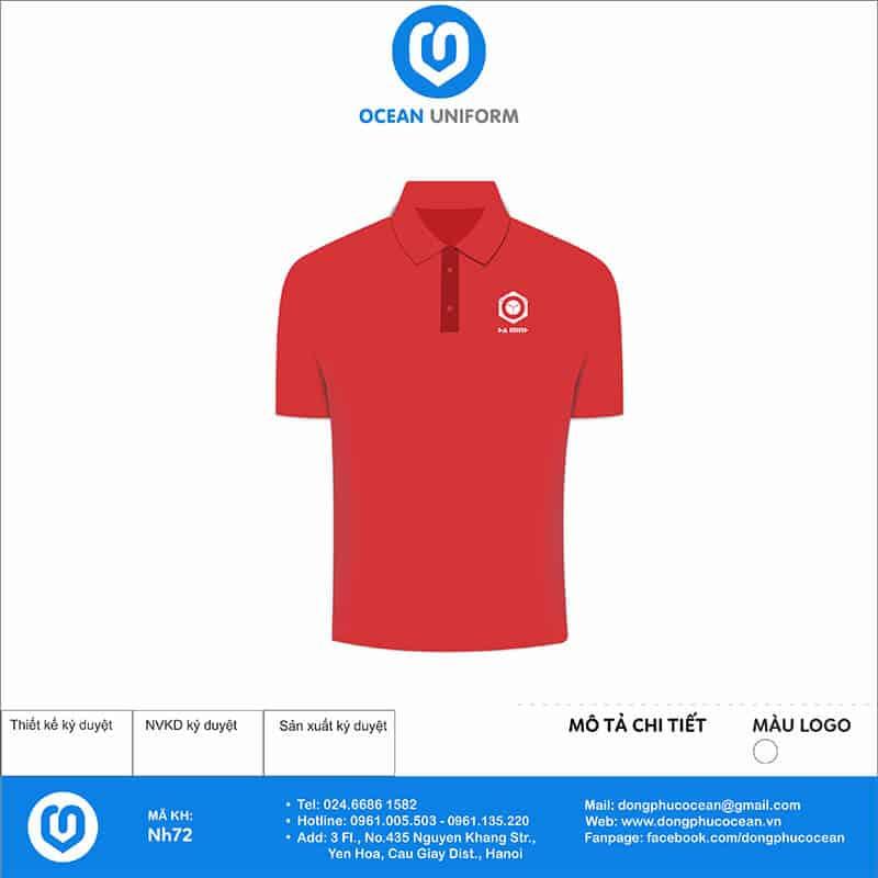 Áo đồng phục Công ty Thêu Màu Hà Minh mặt trước