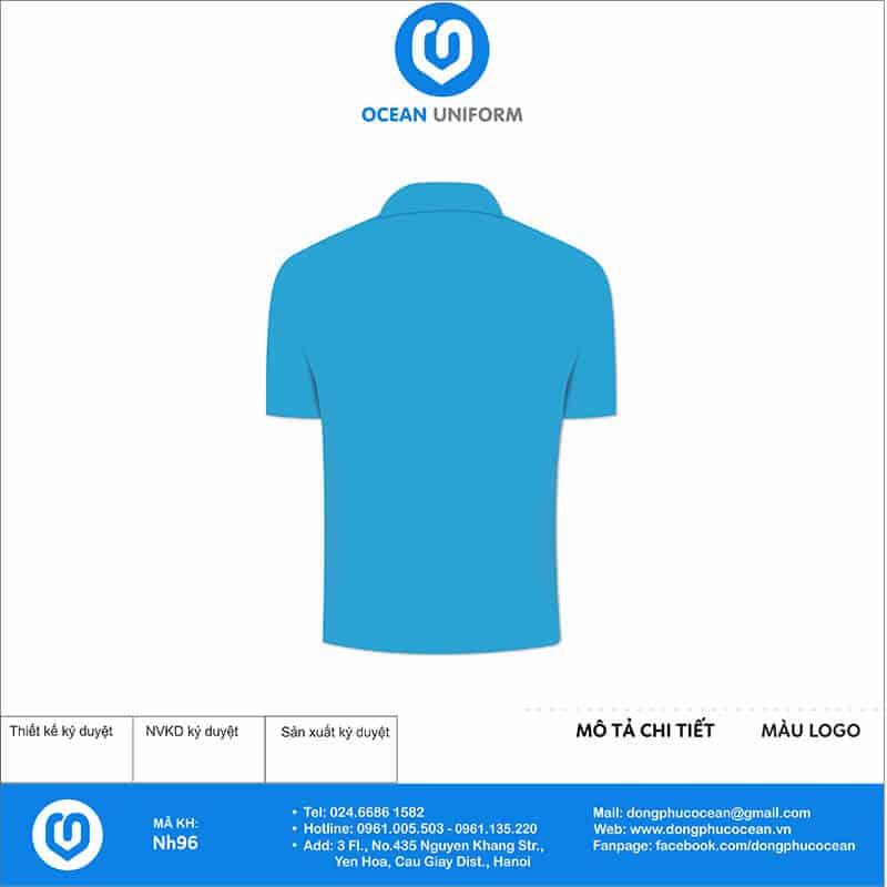 Áo đồng phục công ty VNGE mặt sau