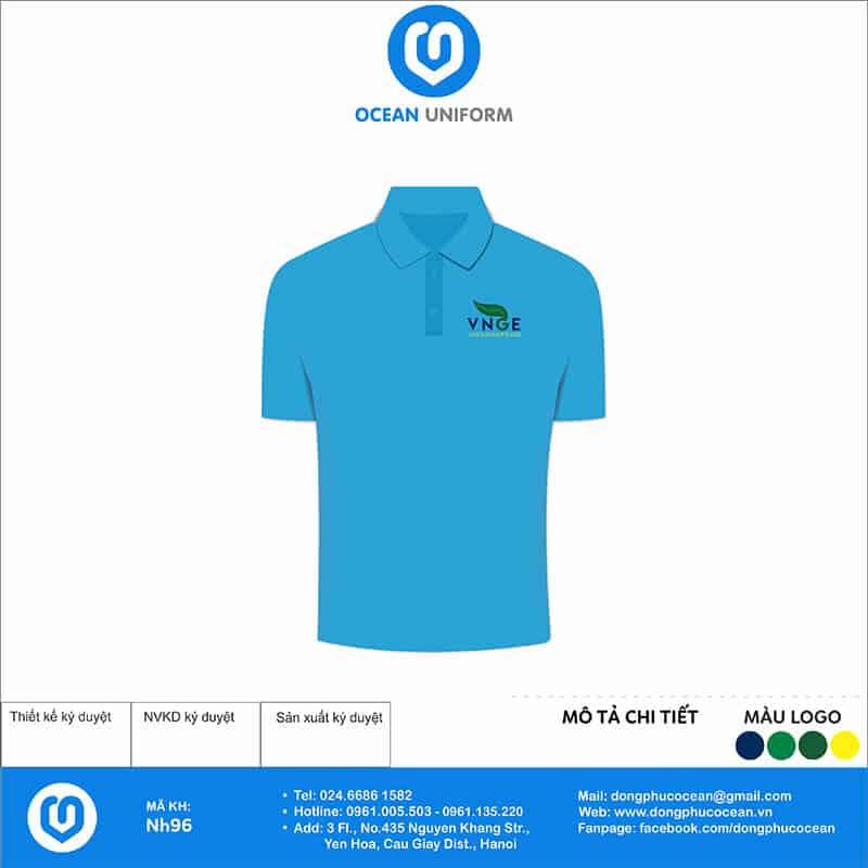 Áo đồng phục công ty VNGE mặt trước