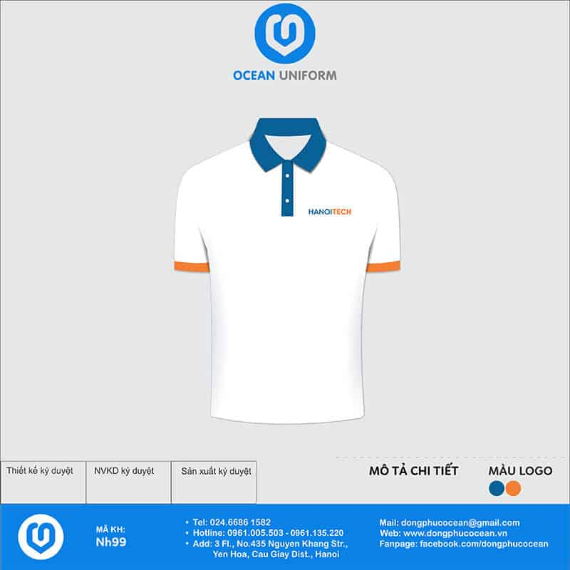 Áo đồng phục Công ty HanoiTech mặt trước