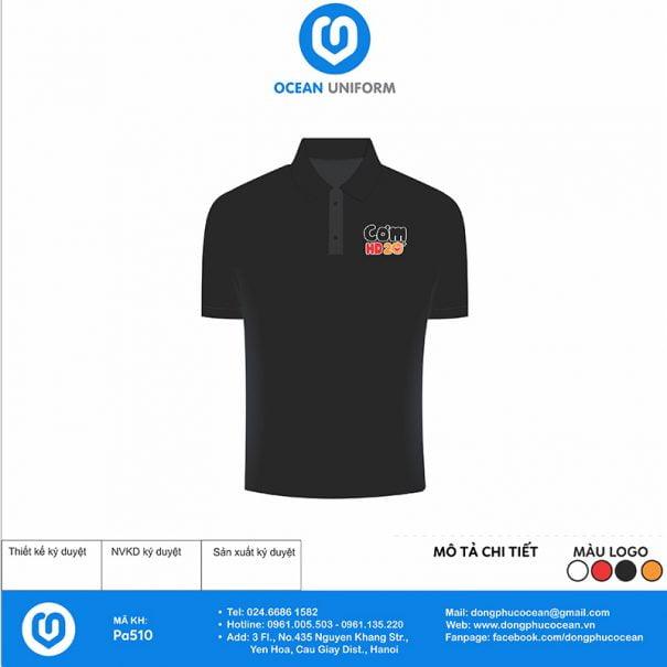 Áo đồng phục nhân viên nhà hàng Cơm HD 20+