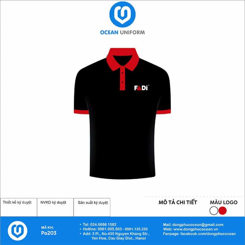 Áo đồng phục Công ty Điện máy FADI mặt trước