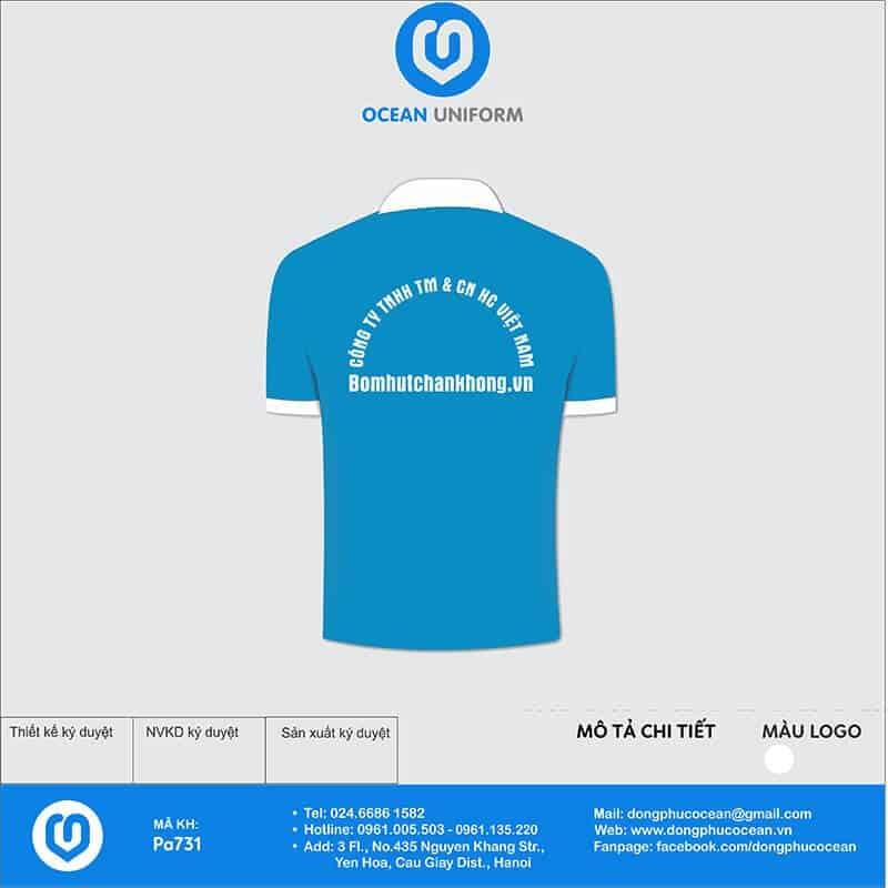 Áo đồng phục công ty HC Việt Nam mặt sau