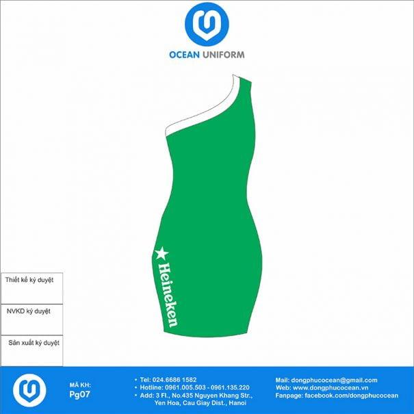 Đồng phục PG Bia Heineken