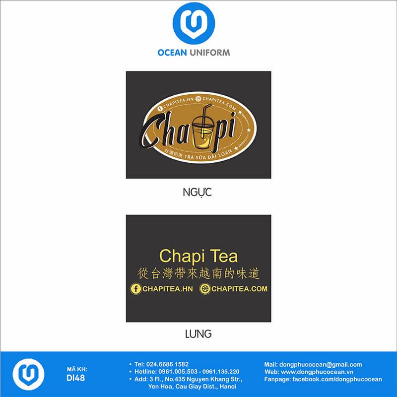 Họa tiết áo đồng phục quán cafe Chapi Tea