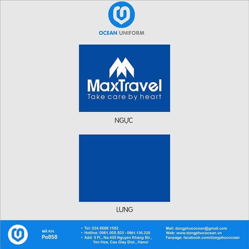 Họa tiết Áo thun đồng phục công ty Maxtravel