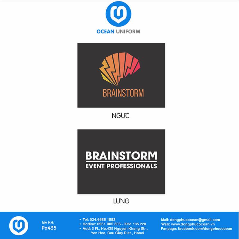 Họa tiết Áo thun quảng cáo Brainstorm