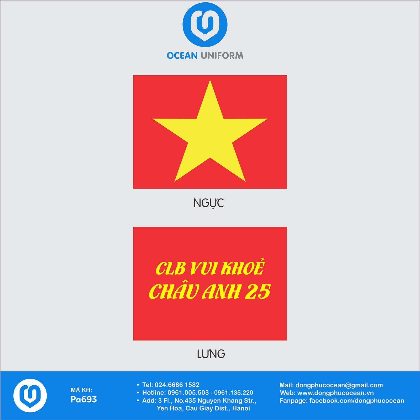 Hoạ tiết áo cờ đỏ sao vàng CLB Châu Anh 25