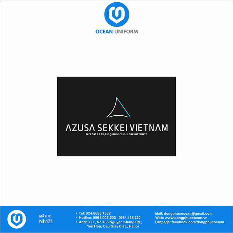 Hoạ tiết áo khoác gió đồng phục công ty Azusa Sekkei Việt Nam