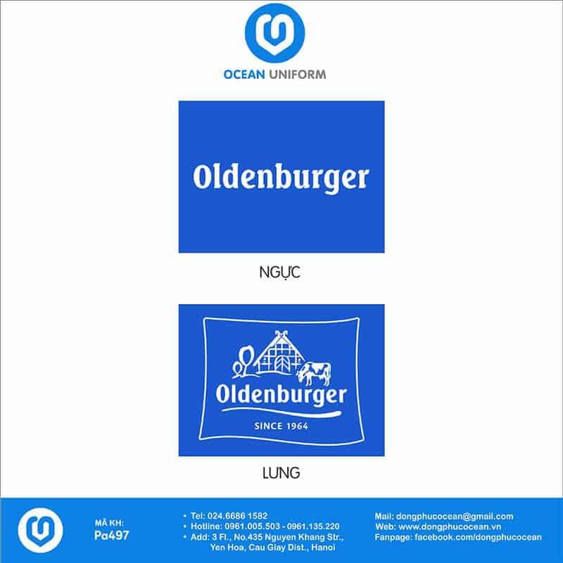 Hoạ tiết áo khoác gió đồng phục Oldenburger