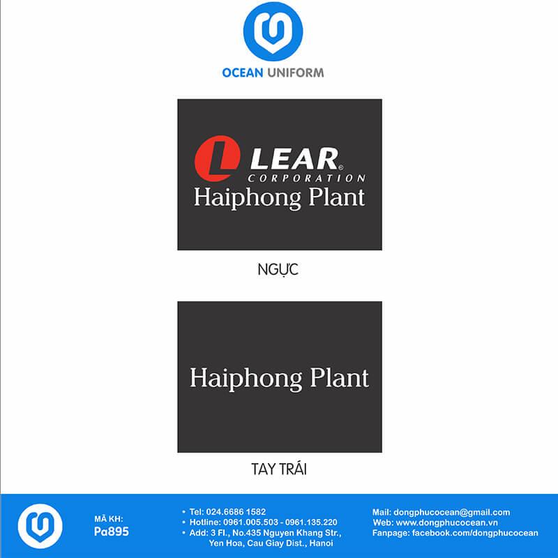 Họa tiết áo khoác gió đồng phục Công ty TNHH Lear Việt Nam