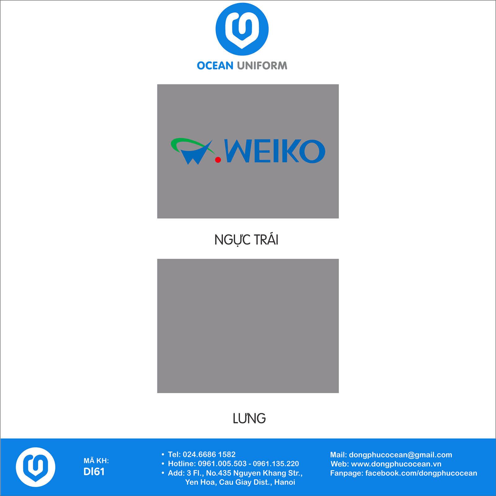 Họa tiết áo khoác gió 3 lớp đồng phục Công ty điện tử Meiko