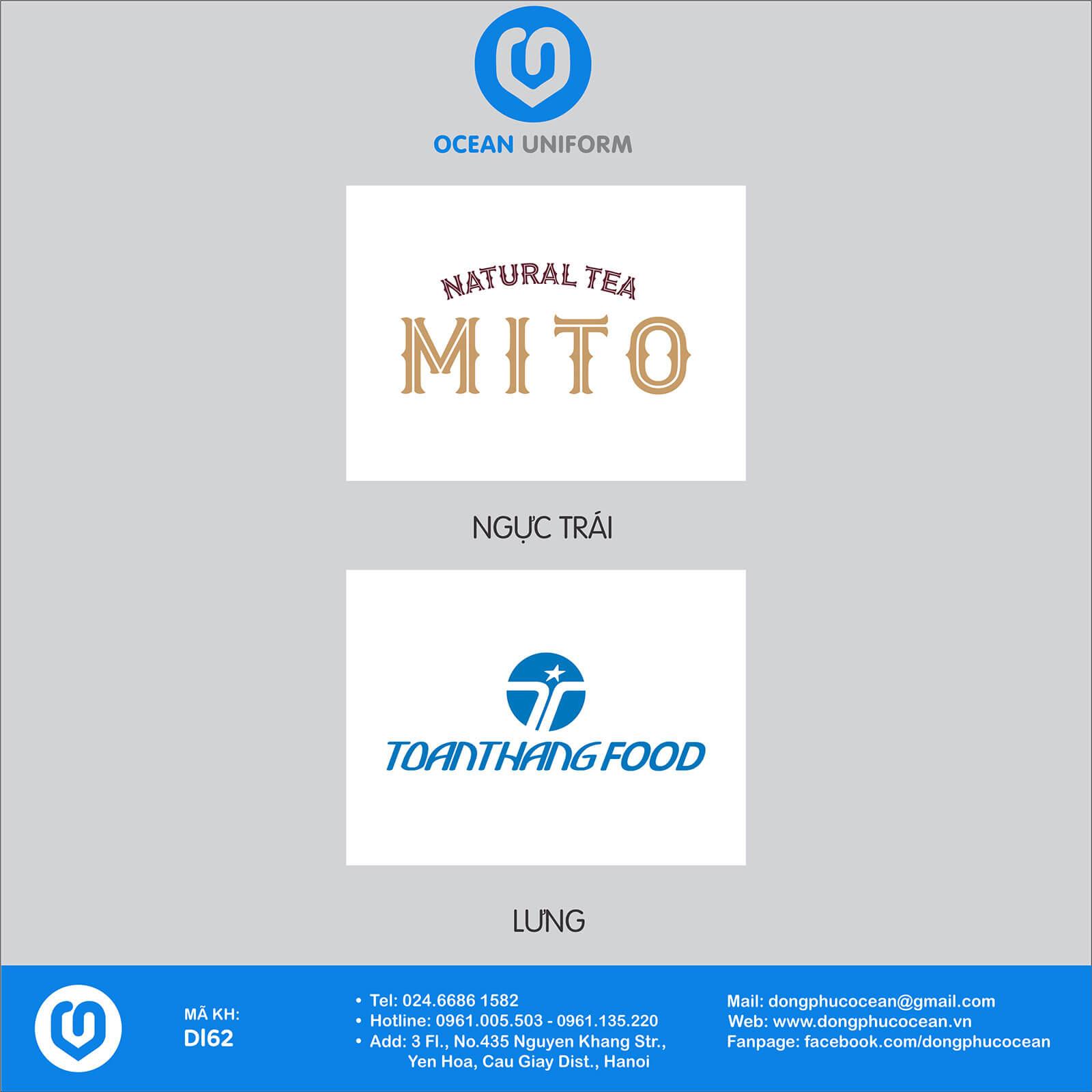 Họa tiết áo khoác gió 3 lớp đồng phục Trà sữa Mito Hàn Quốc