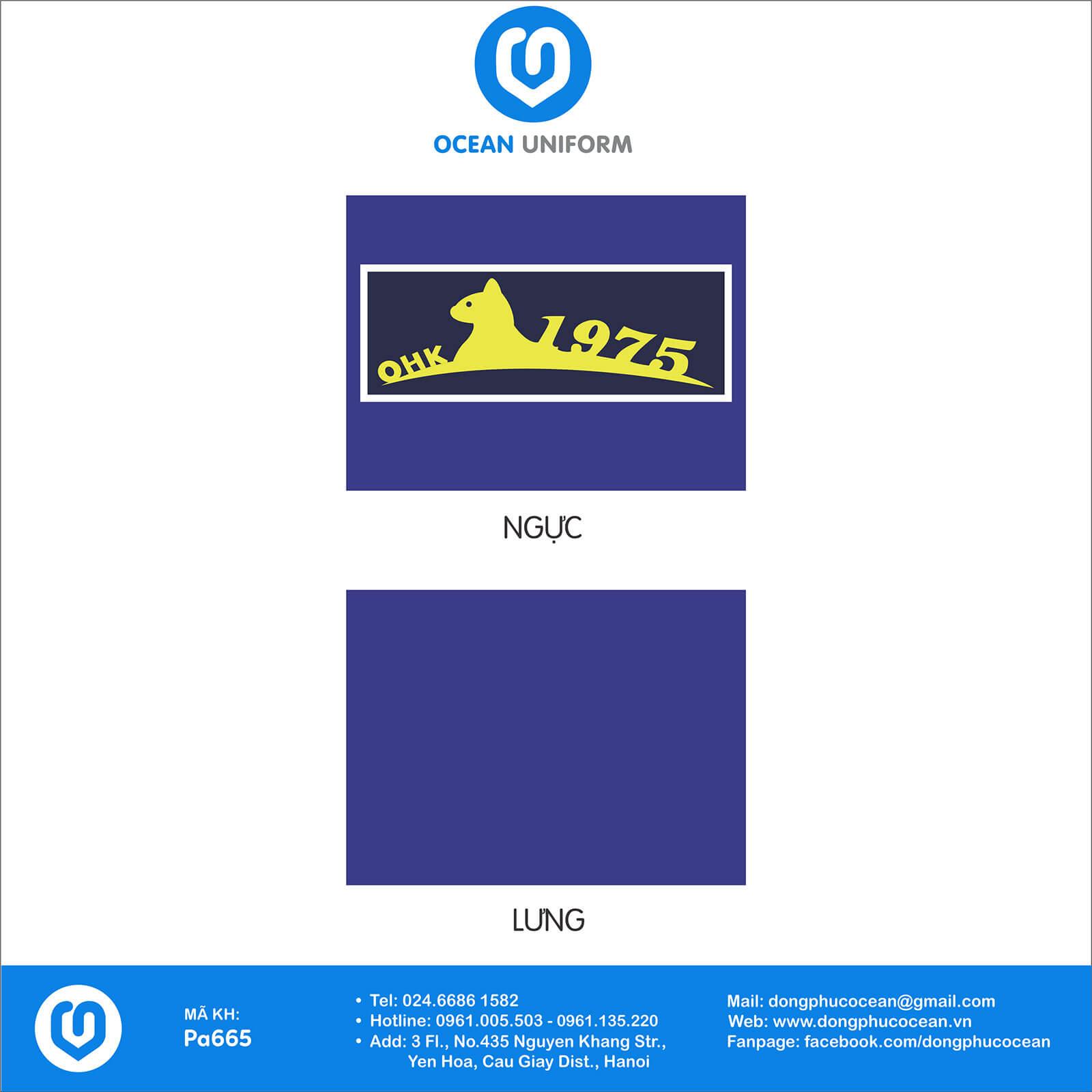 Hoạ tiết áo nhóm OHK 1975