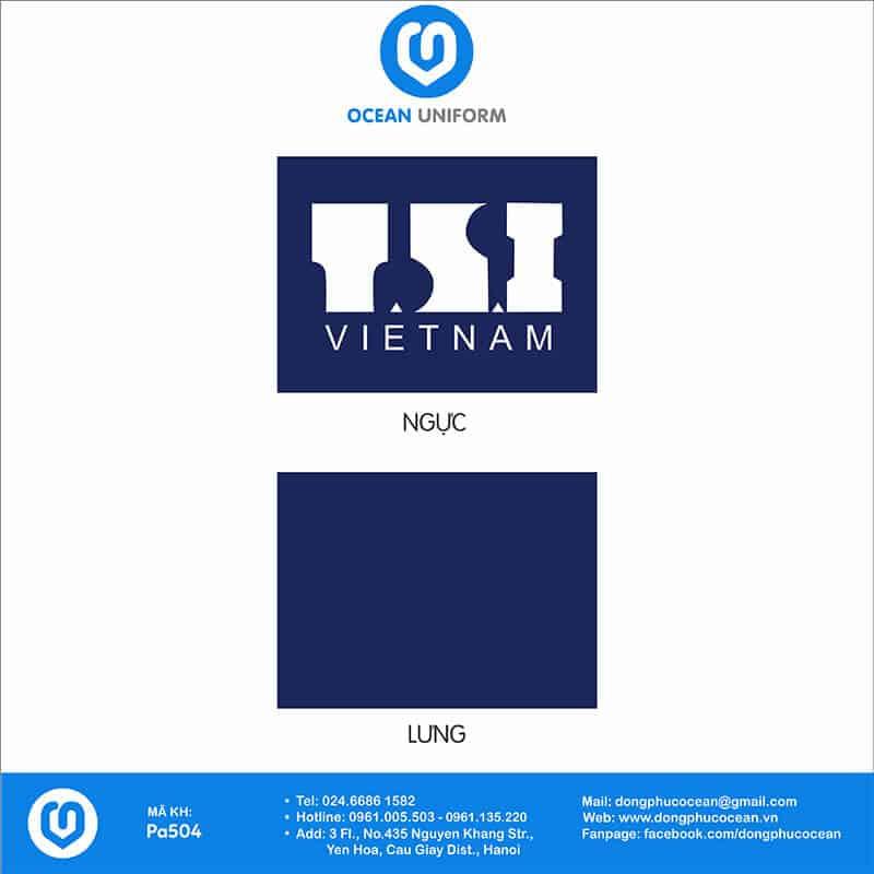 Hoạ tiết áo khoác nỉ đồng phục T.S.I Việt Nam