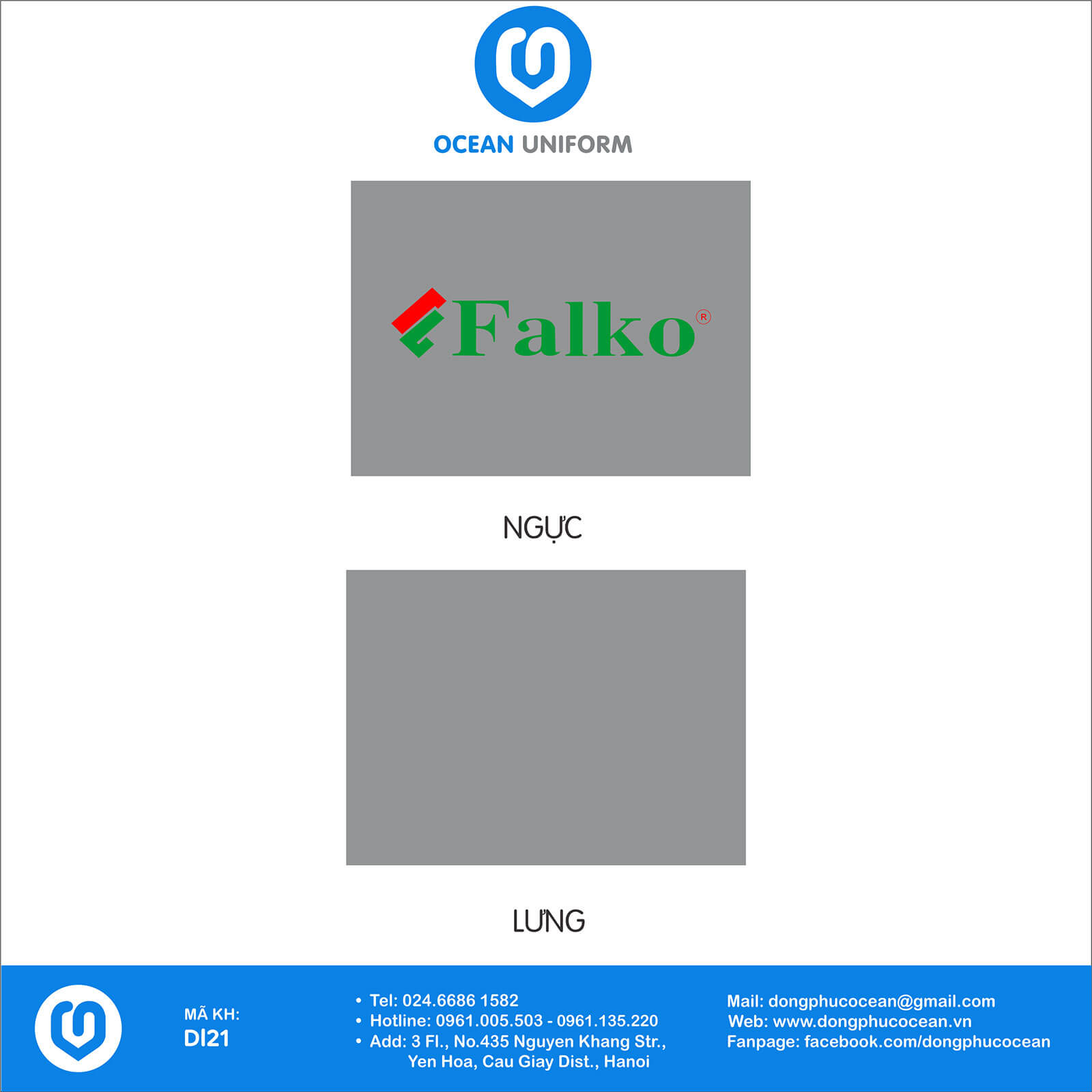 Họa tiếtáo đồng phục Công ty FALKO