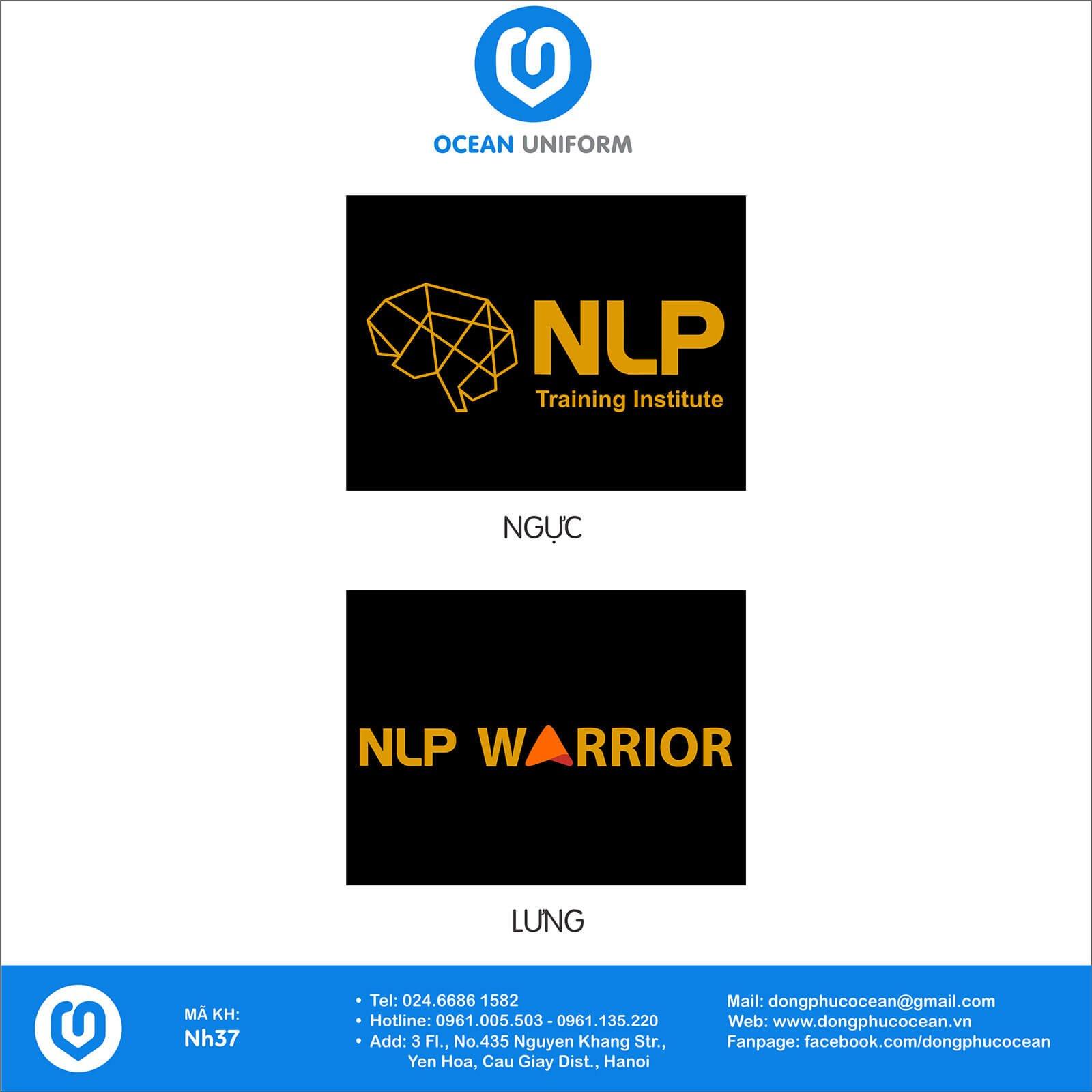 Họa tiết áo đồng phục công ty - Trung tâm đào tạo NLP