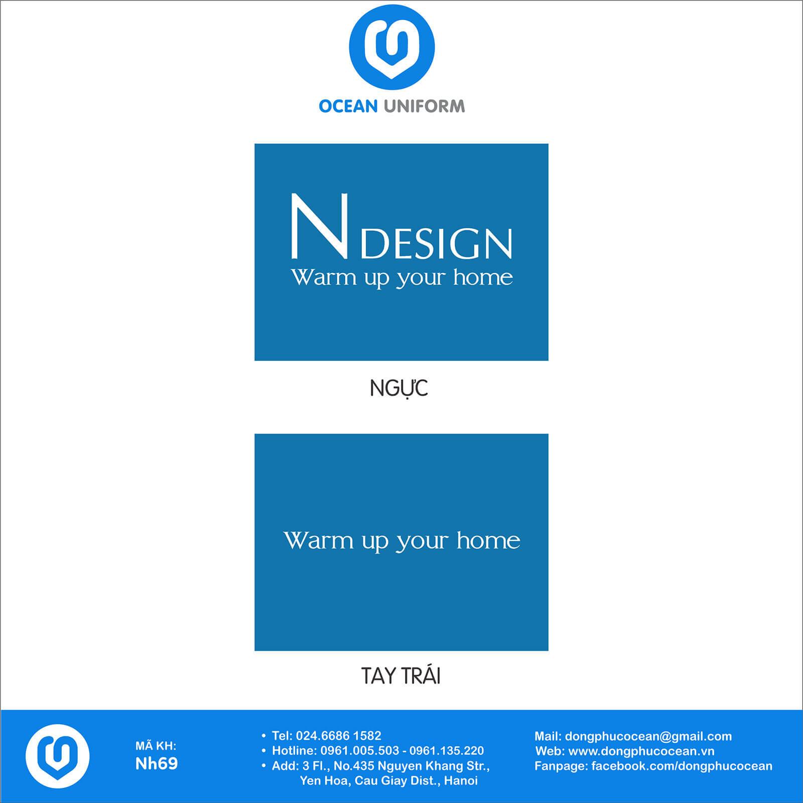 Họa tiết áo đồng phục công ty nội thất NDesign
