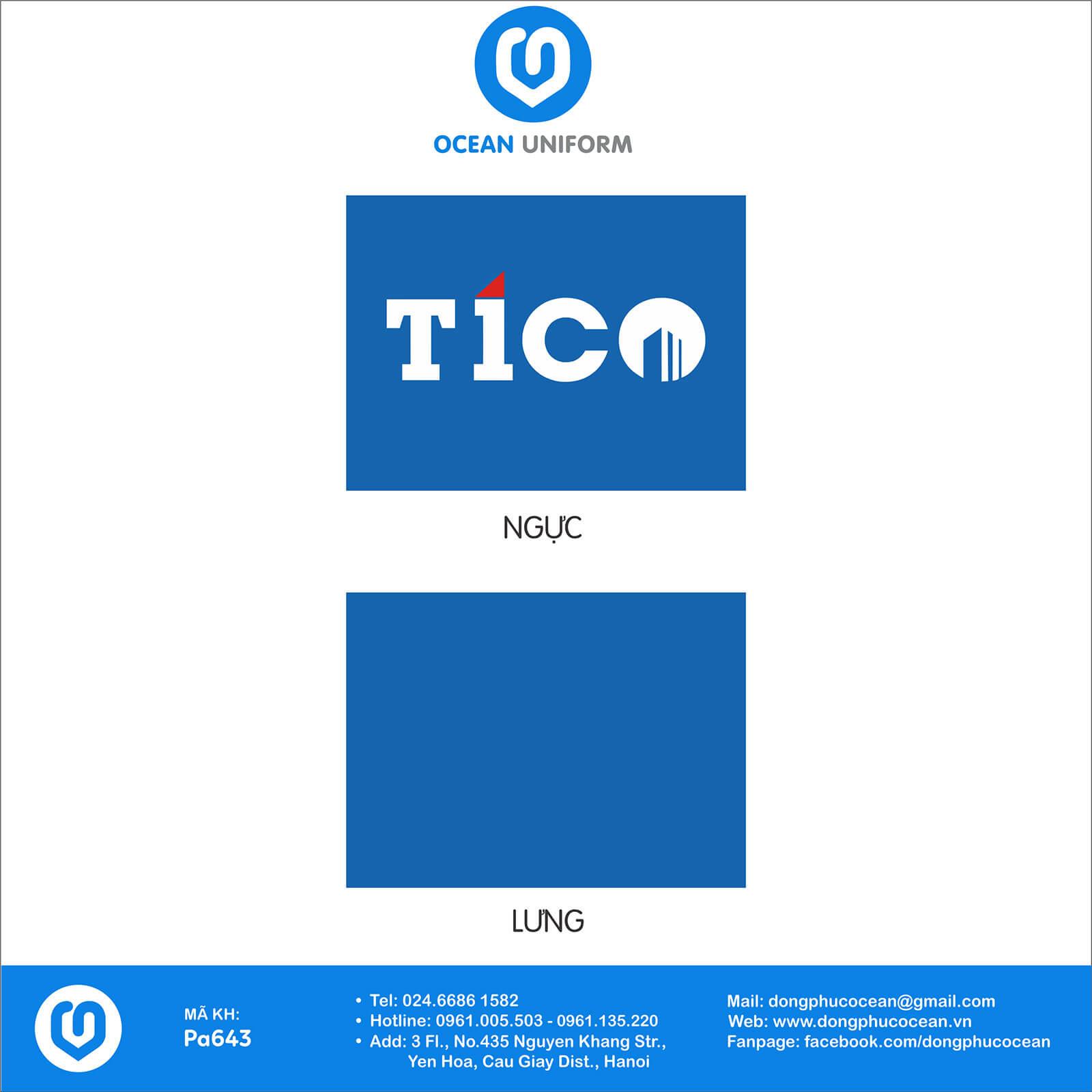 Họa tiết áo thun công sở Công ty CP Tico Việt Nam