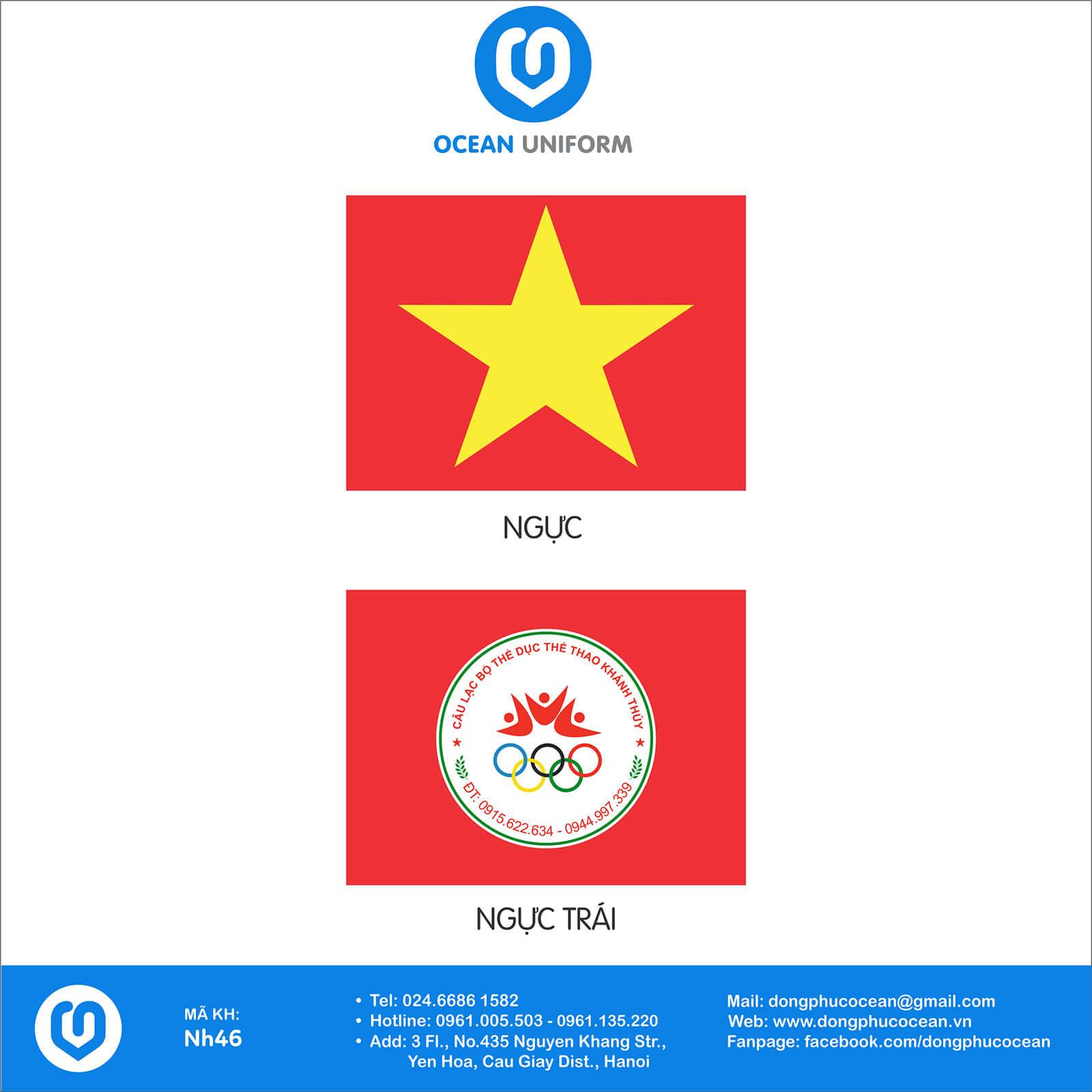 Họa tiết áo cờ đỏ sao vàng CLB Khánh Thủy