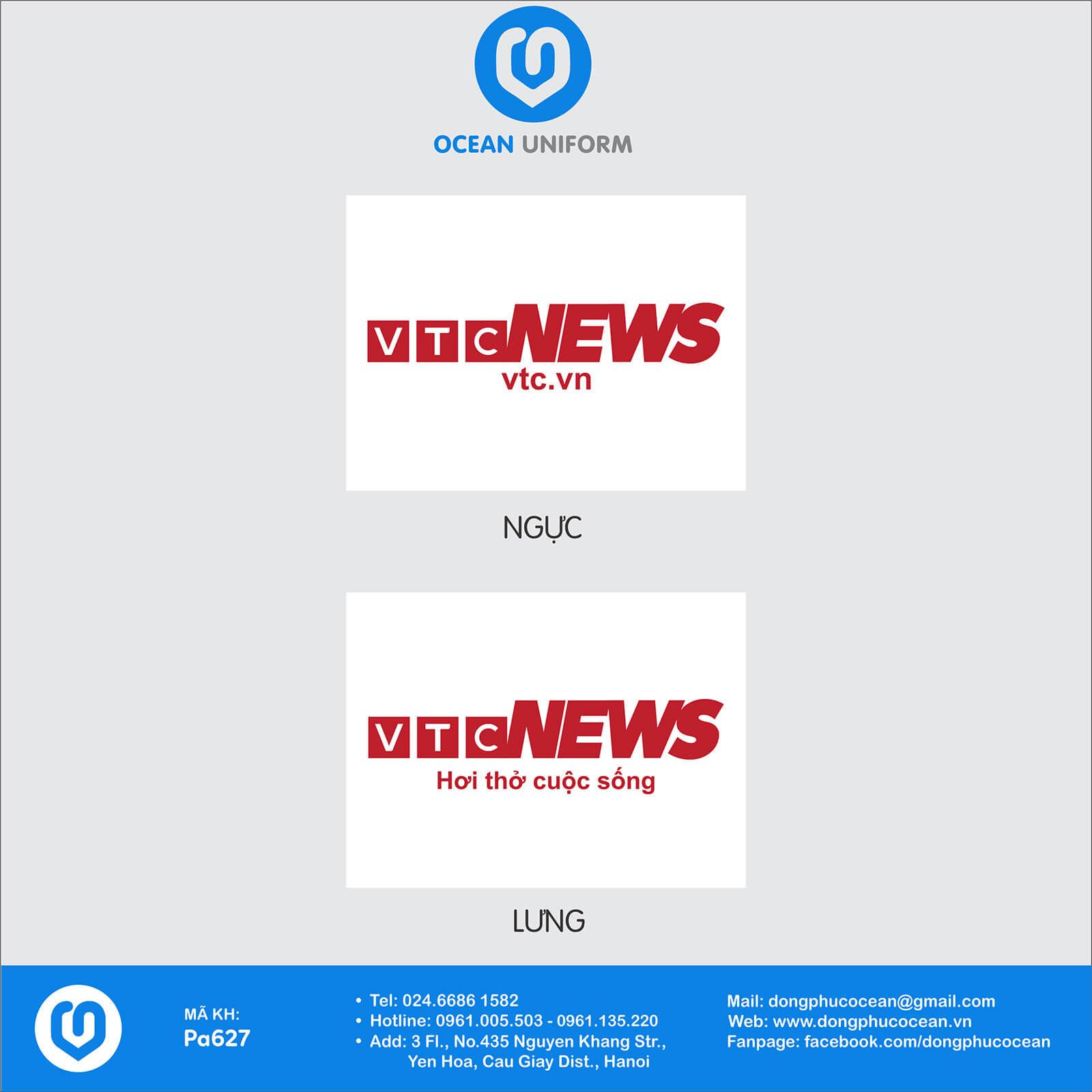 Họa tiết áo thun quảng cáo VTC News