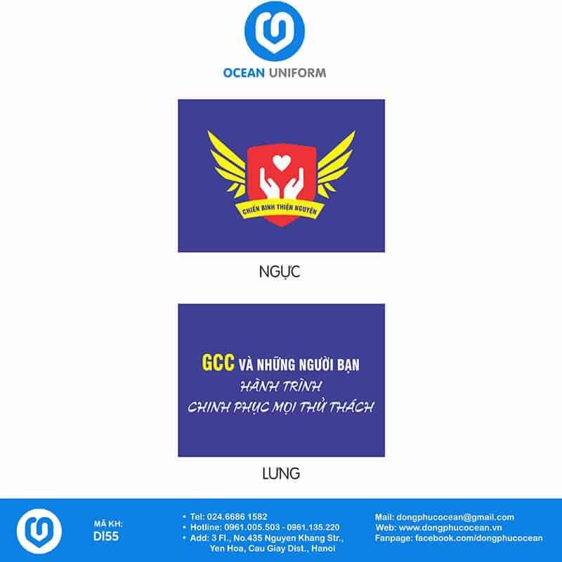 Họa tiết đồng phục câu lạc bộ GCC và Những Người bạn