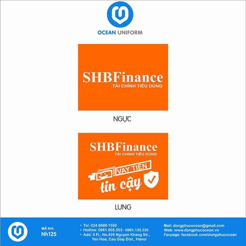 Họa tiết Áo thun đồng phục ngân hàng SHB Finance