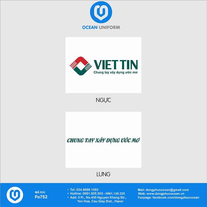 Họa tiết áo thun đồng phục ngân hàng công ty Việt Tín