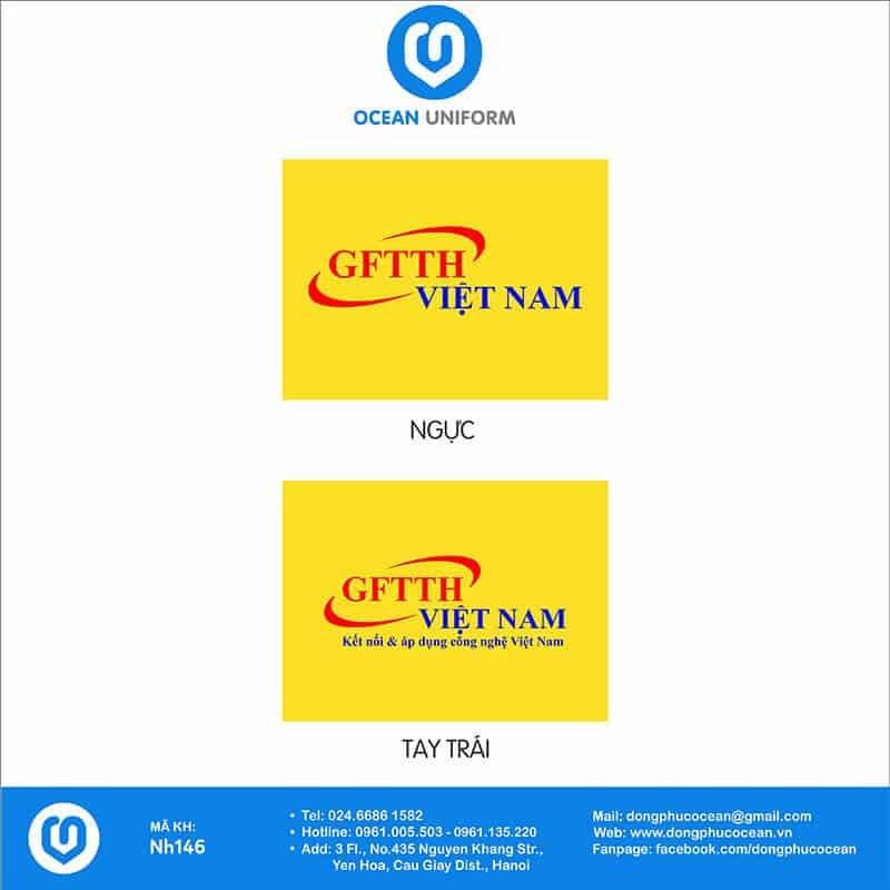 Họa tiết áo đồng phục công ty GFTTH Việt Nam