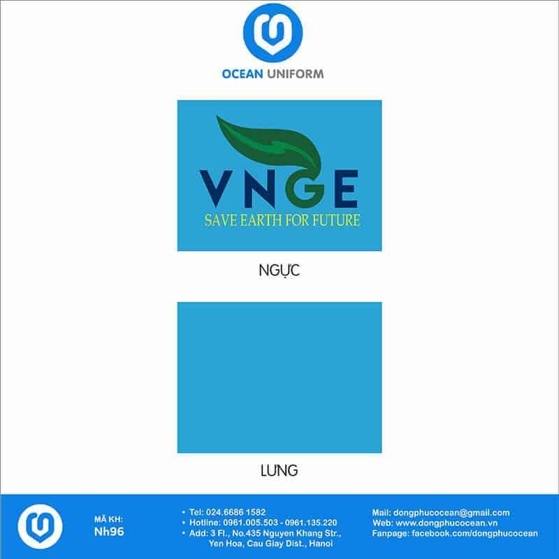 Họa tiết áo đồng phục công ty VNGE