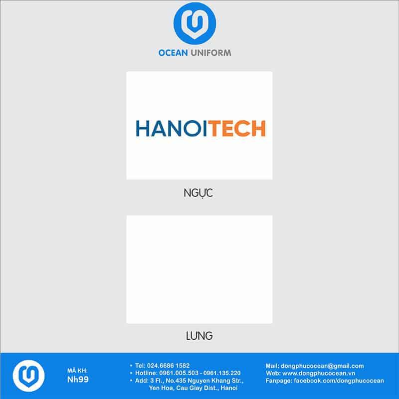Họa tiết áo đồng phục Công ty HanoiTech