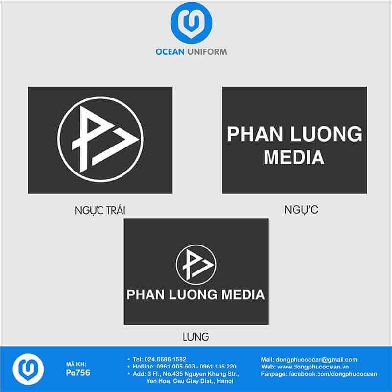 Họa tiết Áo đồng phục công ty Phan Lương Media