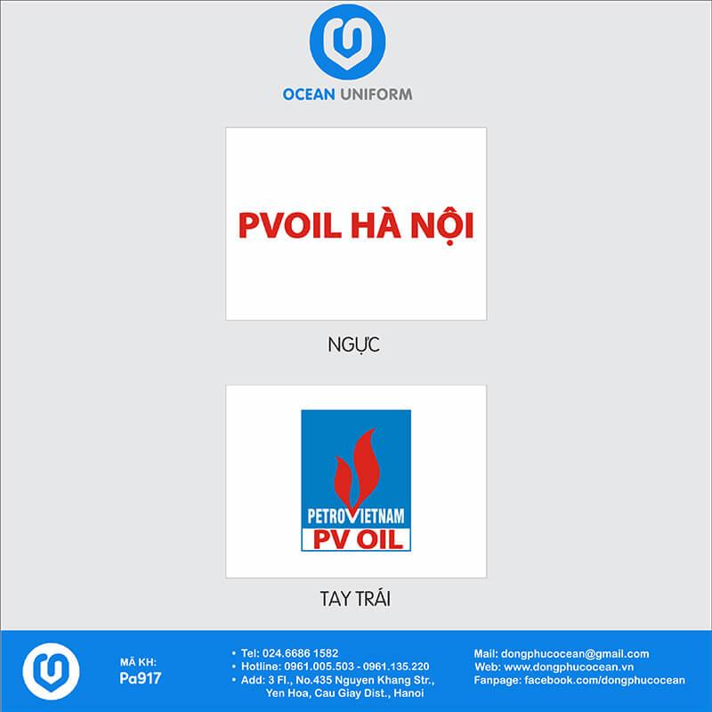 Họa tiết Áo thun công sở Công ty PV Oil