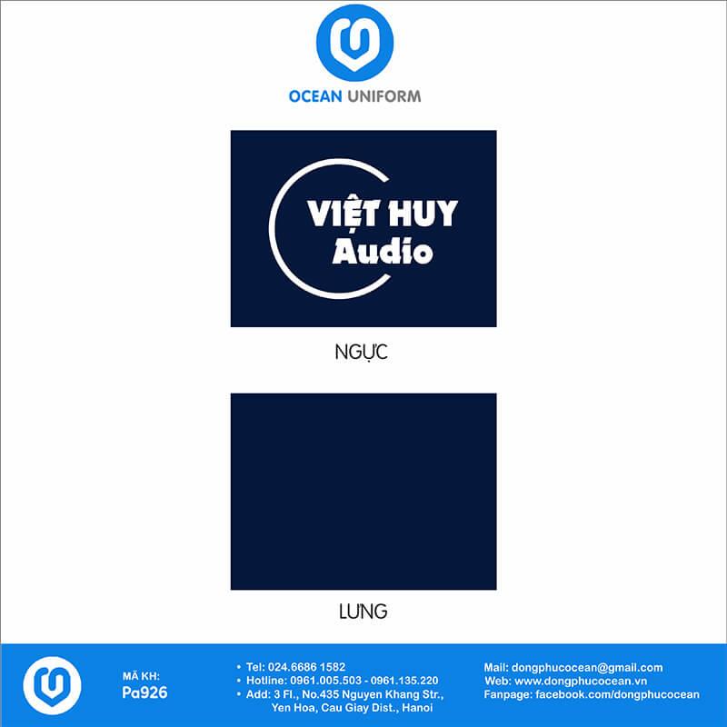 Họa tiết Áo thun công sở Công ty Việt Huy Audio