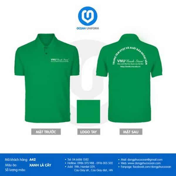 Mẫu áo đồng phục đẹp cho học viên trung tâm tiếng Anh 2