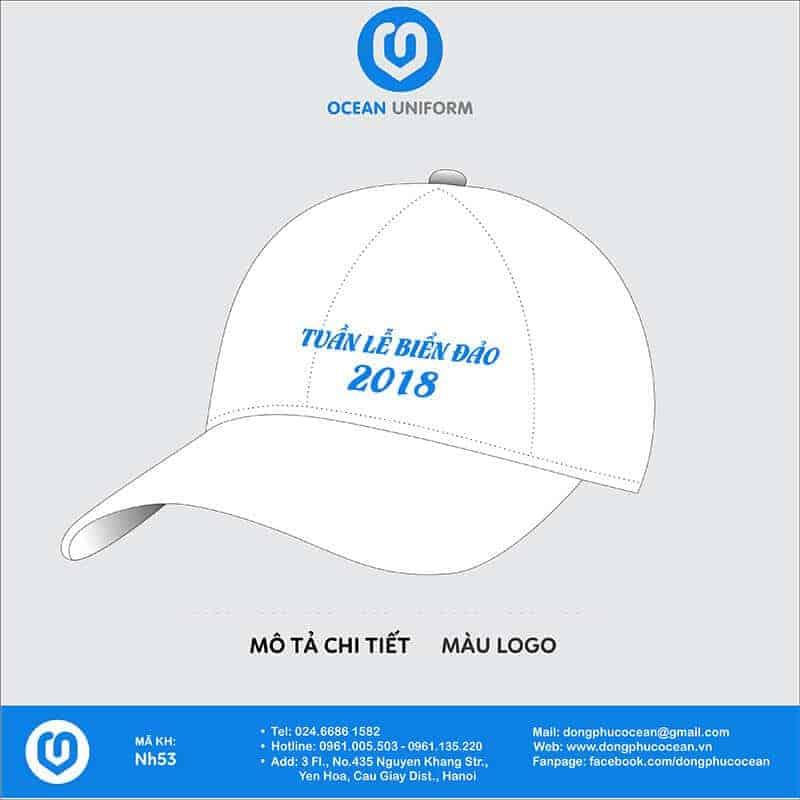 Mũ đồng phục Tuần lễ biển đảo 2018