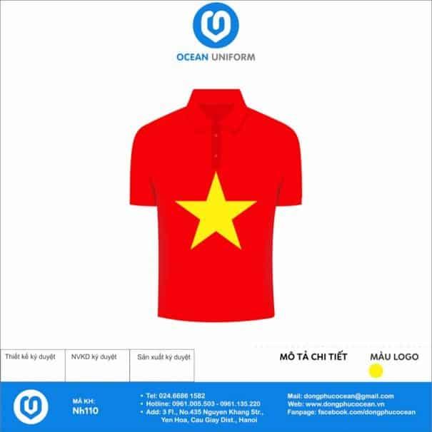 Áo cờ đỏ sao vàng Trường Tiểu học Nặm Lịch