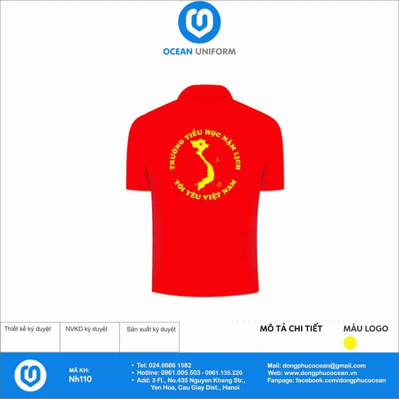 Áo cờ đỏ sao vàng Trường Tiểu học Nặm Lịch mặt sau