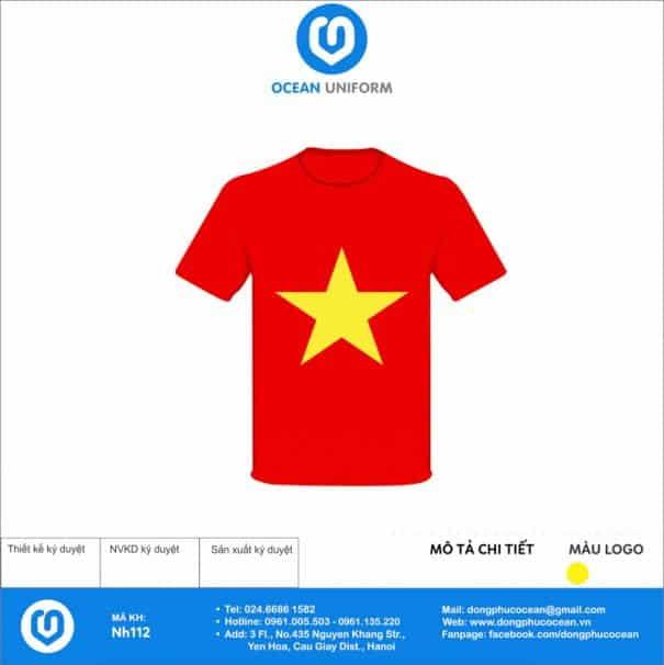 Áo cờ đỏ sao vàng Trường THPT tại Lào Cai