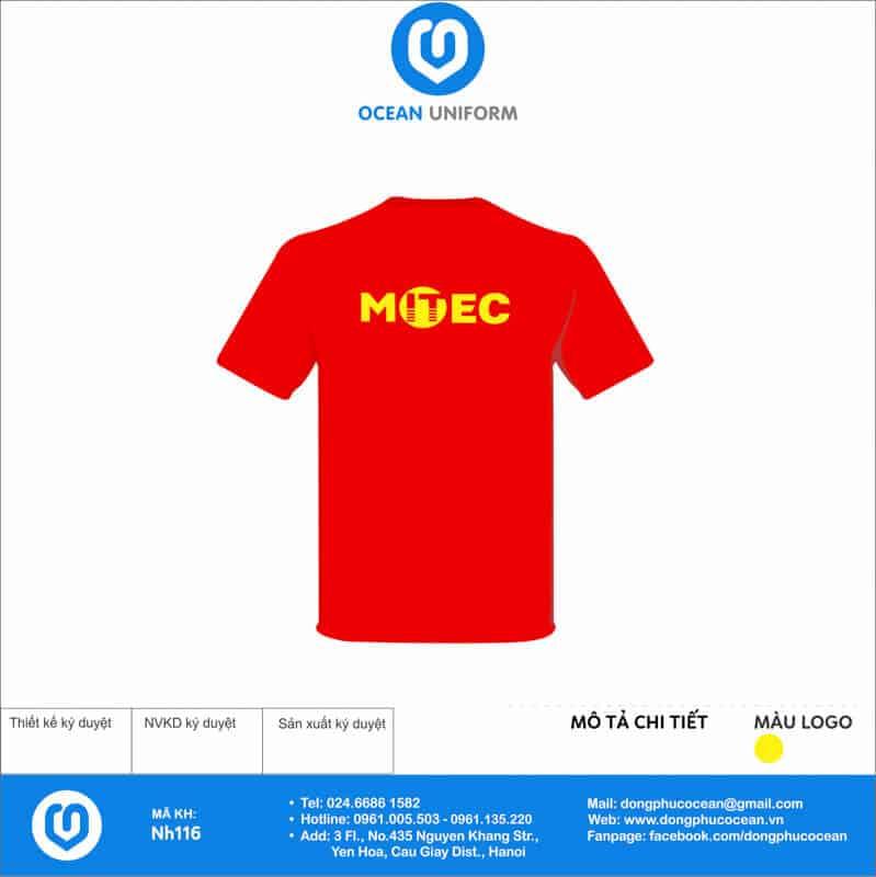 Áo cờ đỏ sao vàng Công ty MITEC mặt sau