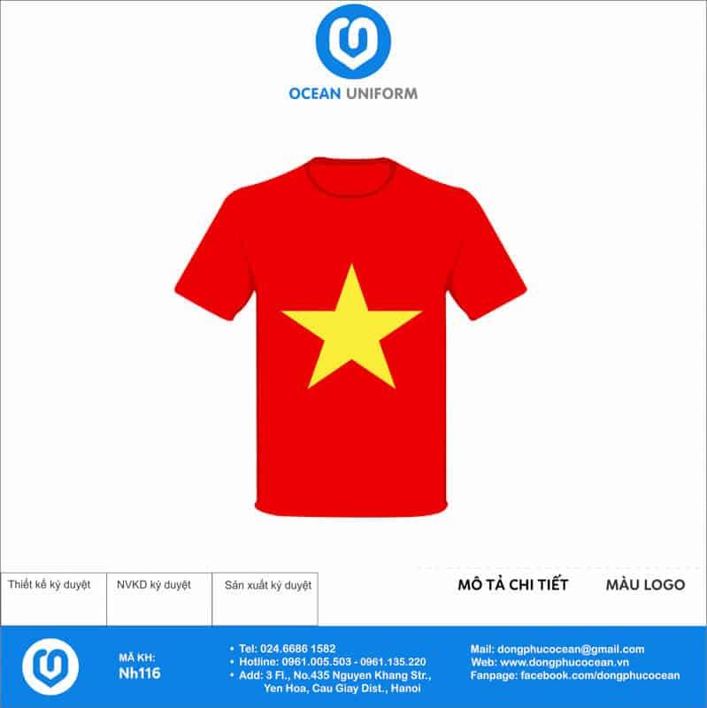 Áo cờ đỏ sao vàng Công ty MITEC