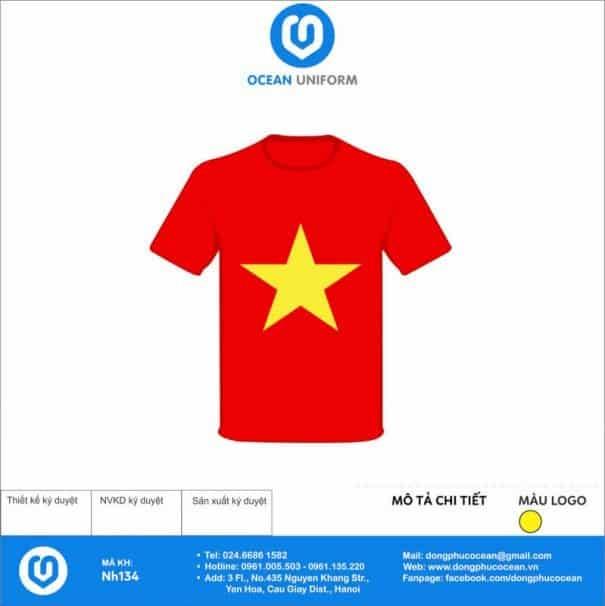 Áo cờ đỏ sao vàng NH134