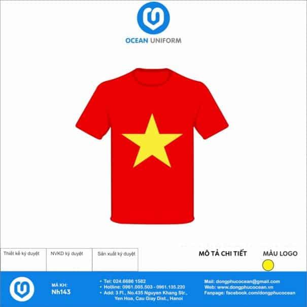 Áo cờ đỏ sao vàng NH143