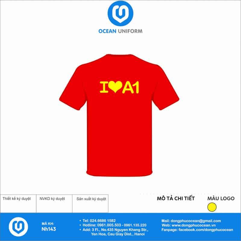 Áo cờ đỏ sao vàng lớp A1 mặt sau